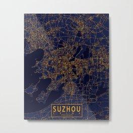 Suzhou, China - City At Night Metal Print