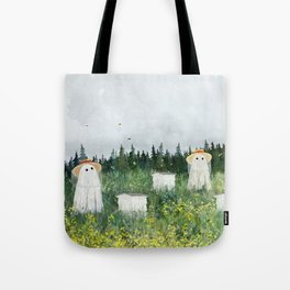 There's Ghosts By The Apiary Again... Tote Bag