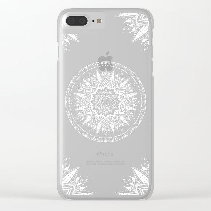 Sunset mandala Clear iPhone Case