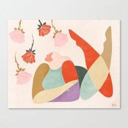 Buying myself flowers Canvas Print