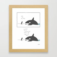 Swimming After You Eat Framed Art Print