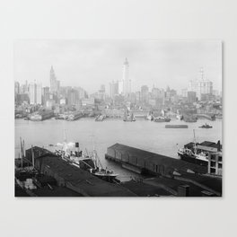 New York skyline from Brooklyn Canvas Print