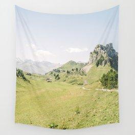Green Swiss Mountain Landscape    Summer Alps   Switzerland Wall Tapestry