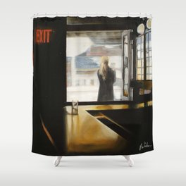 """SUBWAY INN"" Shower Curtain"