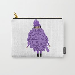Really Really Really Fuckin Cold (Purple) Carry-All Pouch