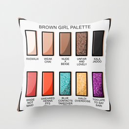 Brown Girl Palette Throw Pillow