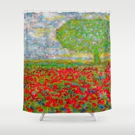 I blossomed... just because I can Shower Curtain