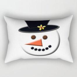 Snowman Head Digital Art Rectangular Pillow