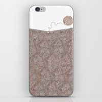 knitting iPhone & iPod Skins featuring Knitting experience by Julia Kisselmann