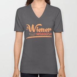Cool Summer Hot Frank Dog in a Bun graphic | Wiener Warrior Unisex V-Neck