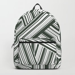 Abstract Crossing Stripes Pattern Backpack