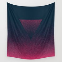 ombre Wall Tapestries featuring OMBRE / raspberry by DANIEL COULMANN