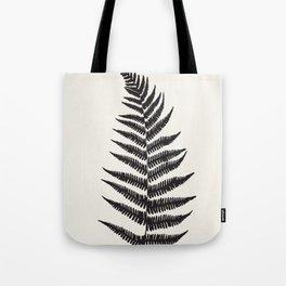 Minimal Fern Leaf Tote Bag