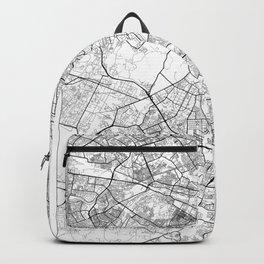 New Delhi Map White Backpack
