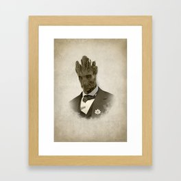 Groot in Victorian style Framed Art Print