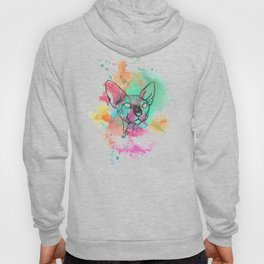 Watercolor Sphynx Hoody