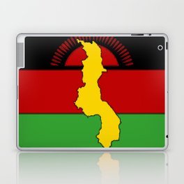 Malawi Map on a Malawian Flag Laptop & iPad Skin