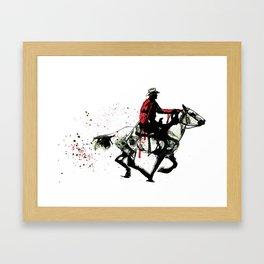 COWBOY Framed Art Print