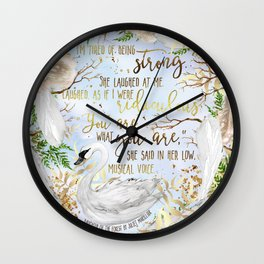 Daughter of the Forest - You Are What You Are Wall Clock