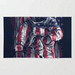 Astronaut Flag Rug