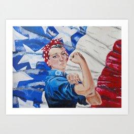 Rosie the Riveter Art Print