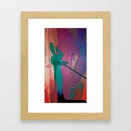 Boy Paints His Own Life Framed Art Print