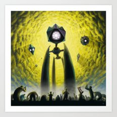 Utkin - Steel God Creation Art Print