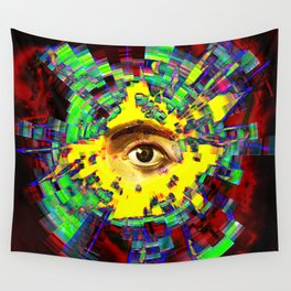 eye in the sky Wall Tapestry