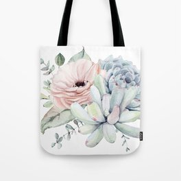 Pastel Succulents by Nature Magick Tote Bag