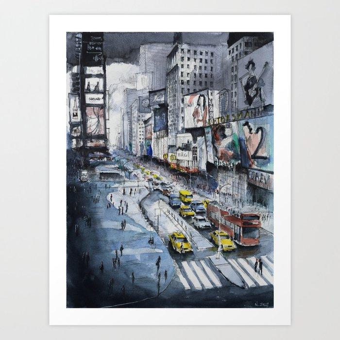 Time square - New York City Art Print