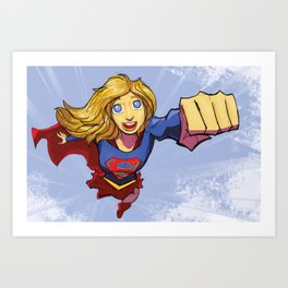 Girl of Steel Art Print