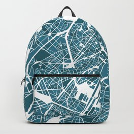 Brussels City Map I Backpack