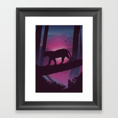 So Peaceful I Can Hear My Blood Framed Art Print
