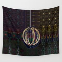globe Wall Tapestries featuring Bubble Globe by Khana's Web