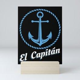 El Capitan Gift Skipper Funny Sea Captain Anchor Mini Art Print