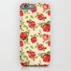 Rose pattern- cream iPhone 6s Slim Case