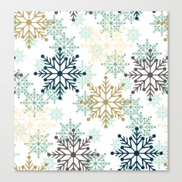 Christmas pattern with snowflakes. Canvas Print