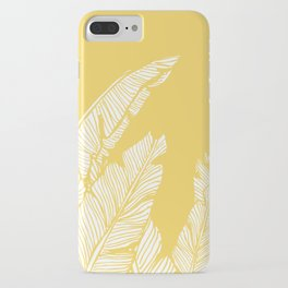 Banana Leaves on Yellow #society6 #decor #buyart iPhone Case