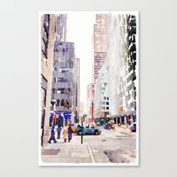 nyc Canvas Prints featuring NYC by Christine Workman