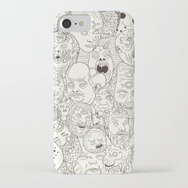 Faces of Math (no color edition)  iPhone Case