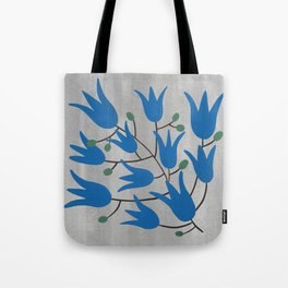Blue Bell – Scandinavian folk art - Blue Bell Floral Tote Bag