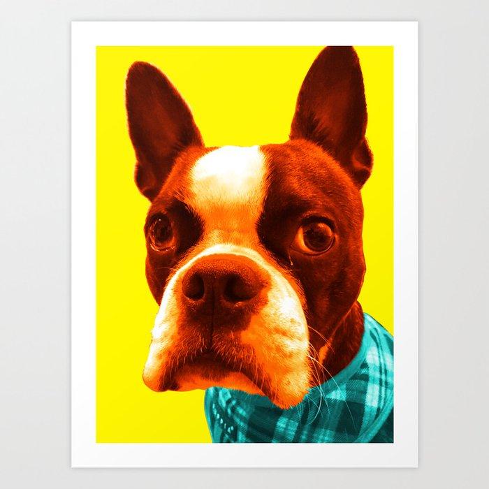 Boba Boston Yellow Art Print