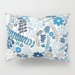 blue and natural wildflowers Pillow Sham