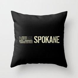 Black Flag: Spokane Throw Pillow