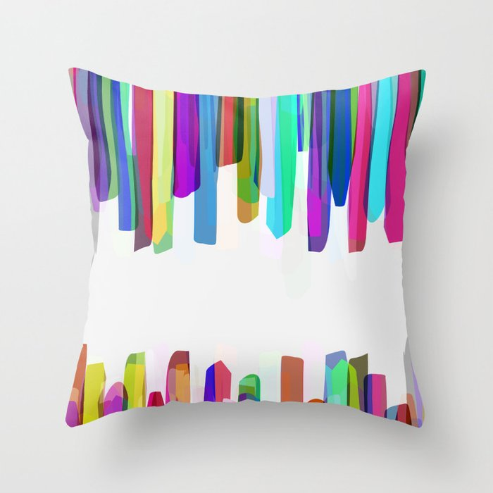 Colorful Stripes 3 Throw Pillow