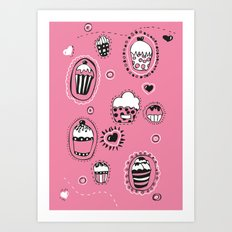 Cupcakes! Art Print
