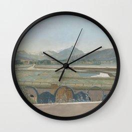 Jean-Etienne Liotard - Uitzicht op het Mont Blanc-massief vanuit het atelier van de kunstenaar te Ge Wall Clock