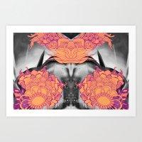 geode Art Prints featuring Geode 6 by michiko_design