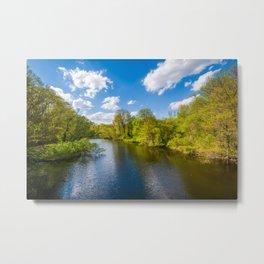 The Mill River Metal Print