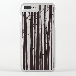 The Trees and The Forest Clear iPhone Case